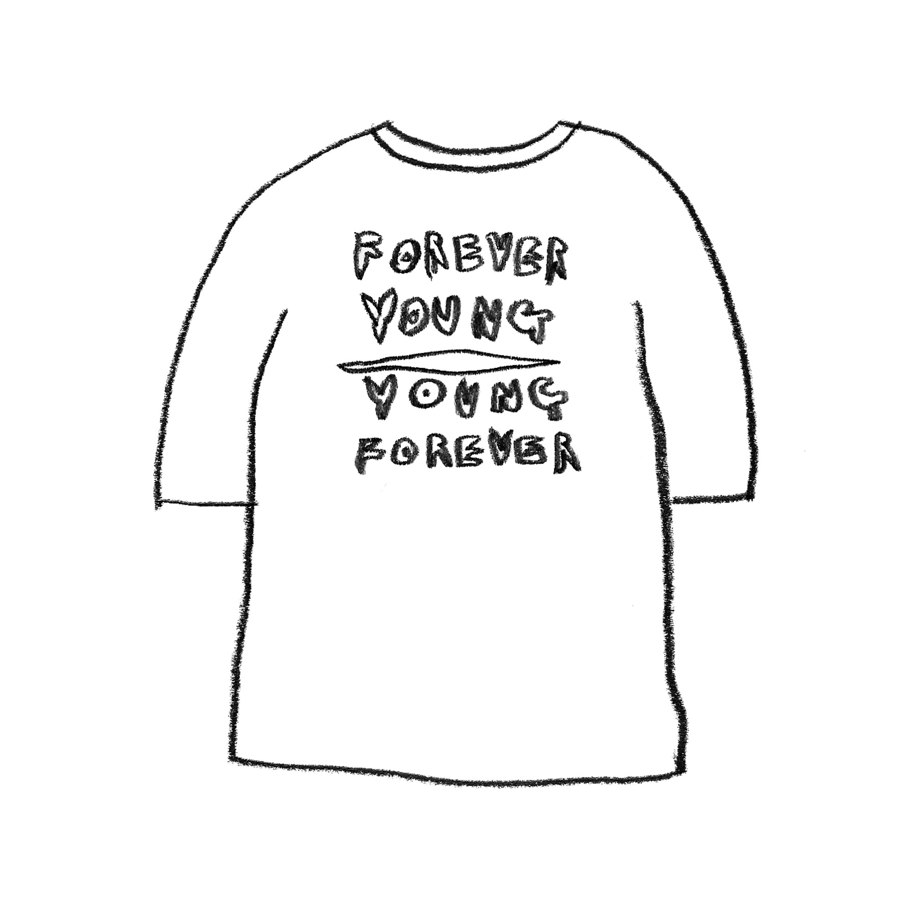 FOREVER YOUNG 1/2 T-SHIRT