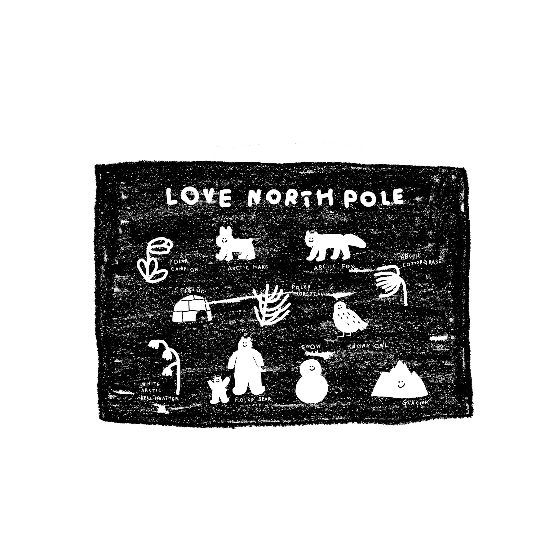 LOVE NORTH POLE FABRIC POSTER